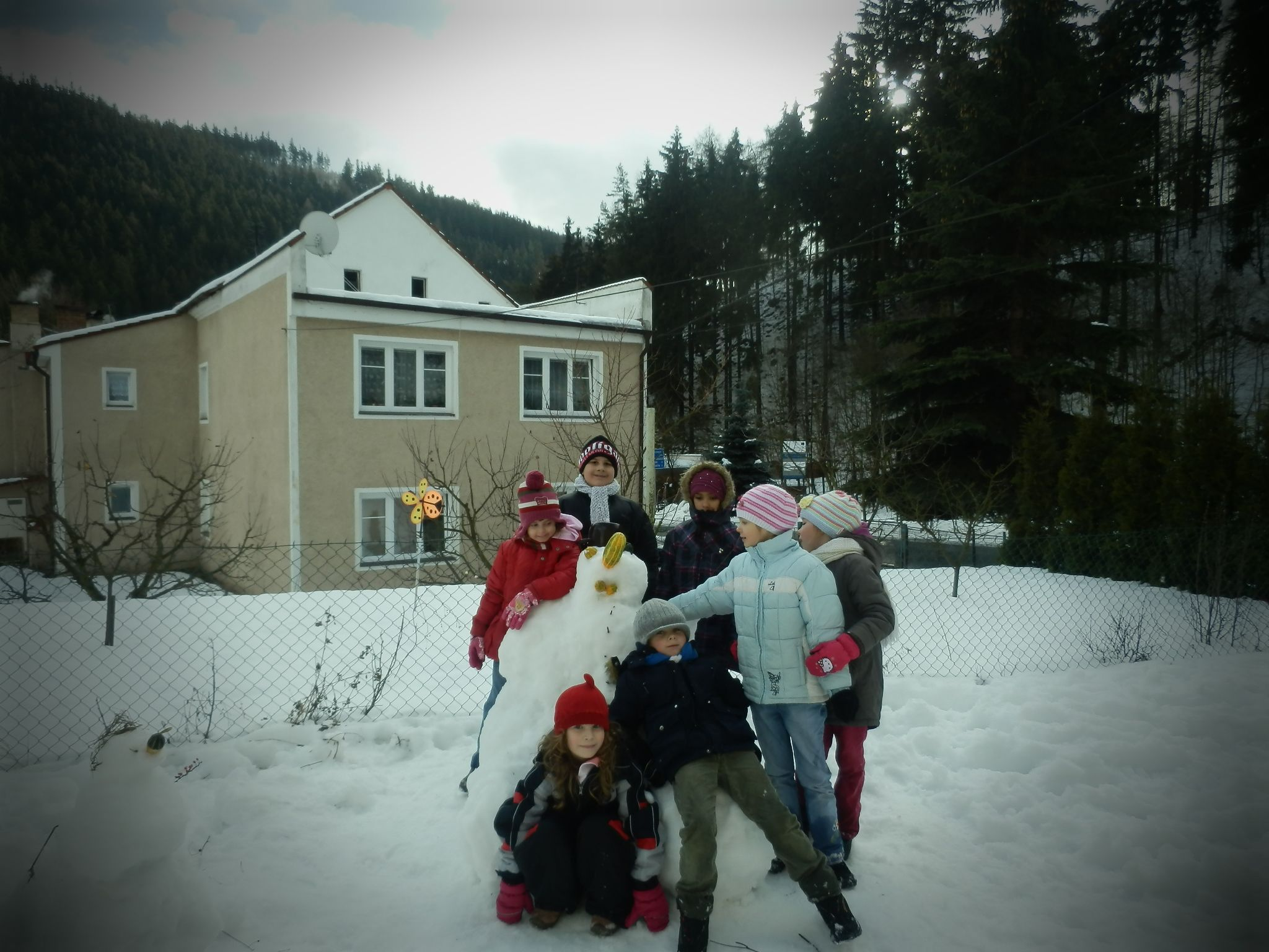 Jak jsme stavěli sněhuláka